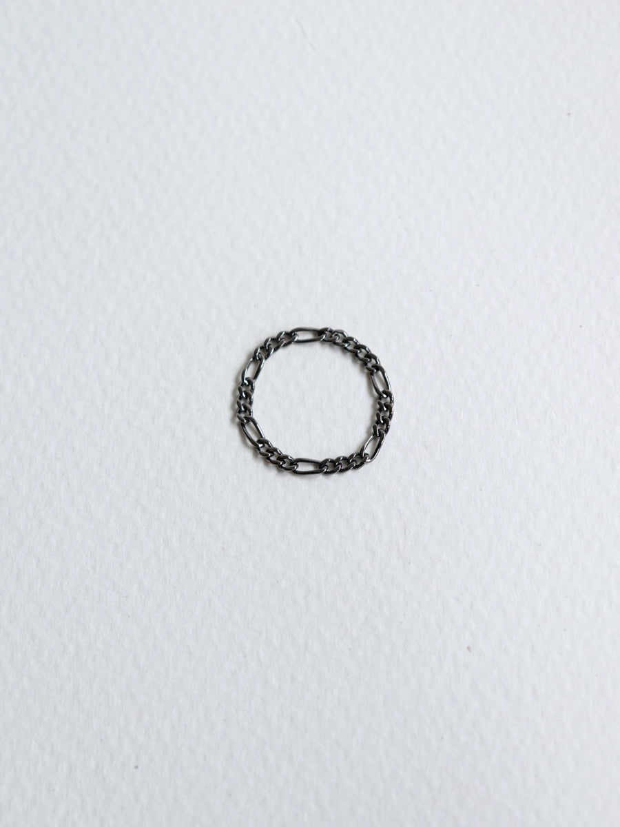 Figaro Ring in Black Rhodium
