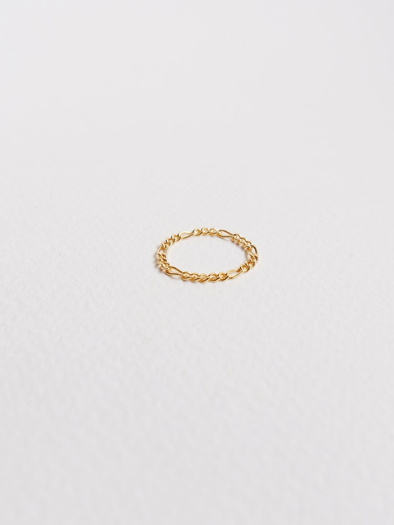 Figaro Chain Ring in Gold