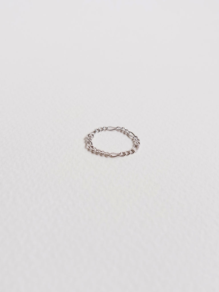 Figaro Chain Ring in Silver