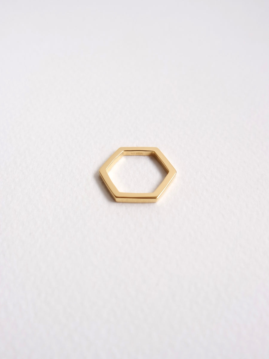 Hexagon Ring (Gold)