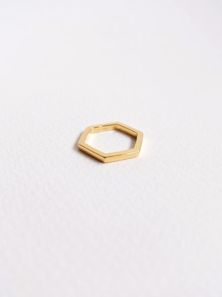 Hexagon Ring in Gold