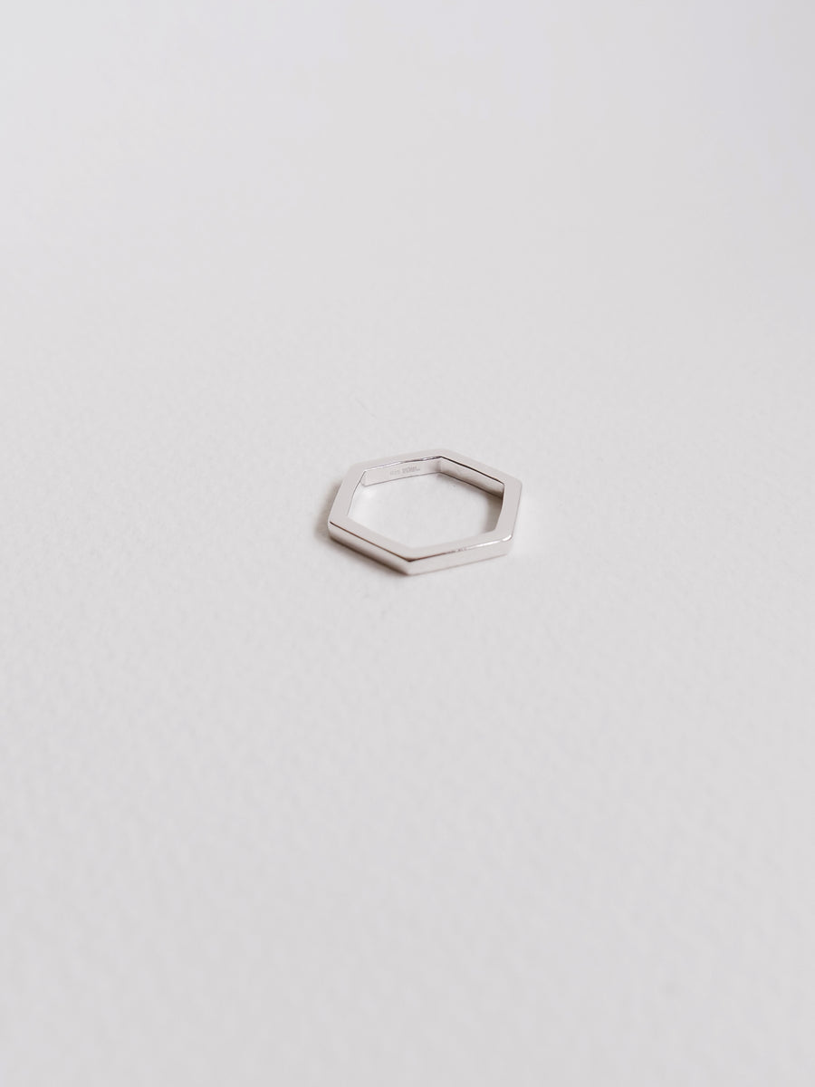Hexagon Ring (Silver)