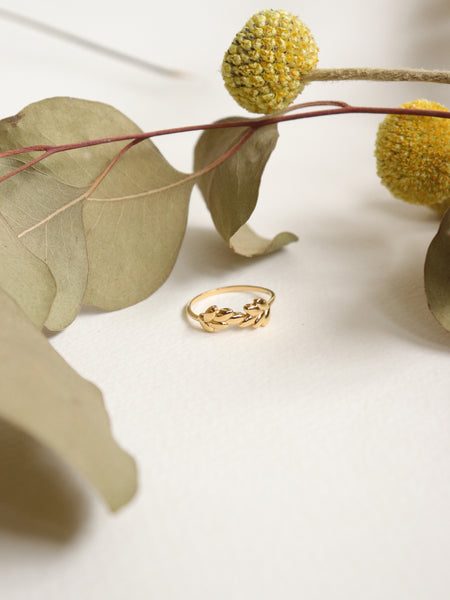 Laurel - Organic Leaves in Gold
