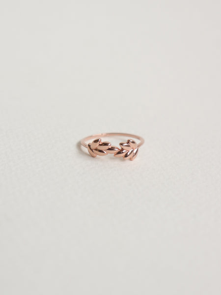 Laurel - Organic Leaves in Rose Gold