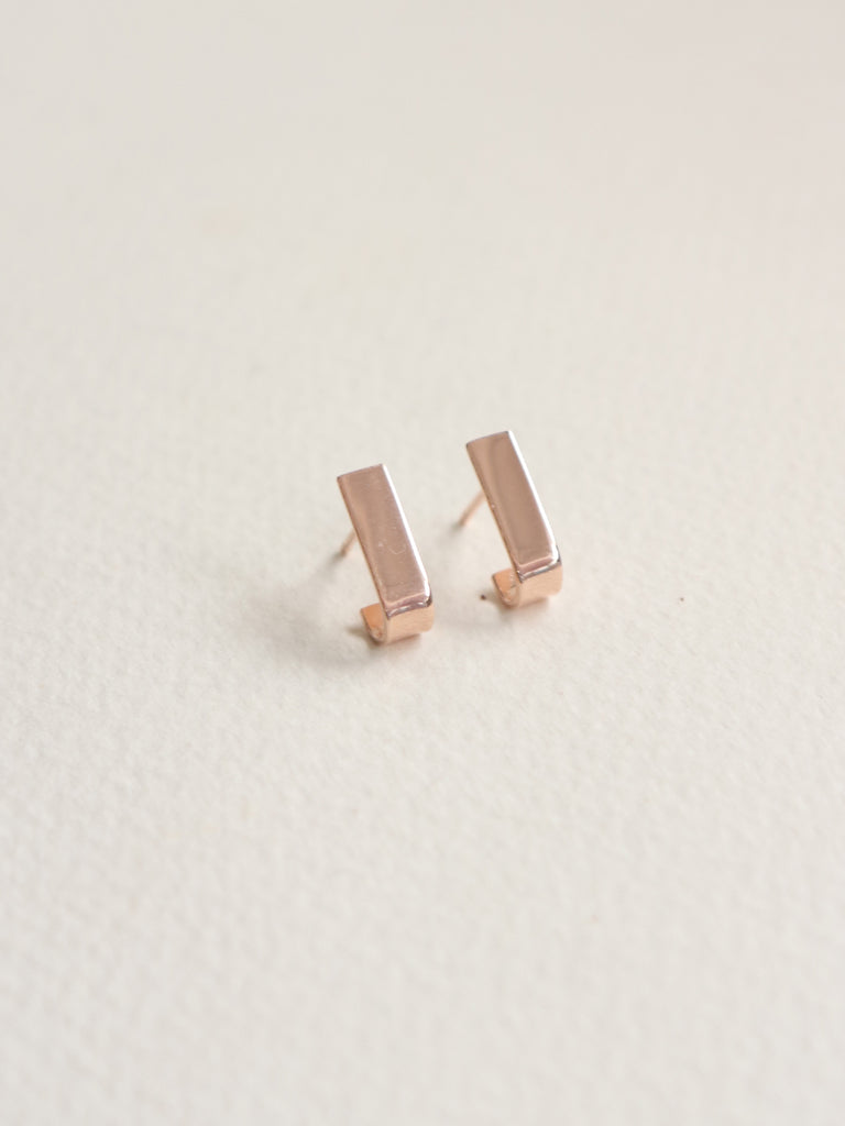 Pave Earstuds - Rose Gold