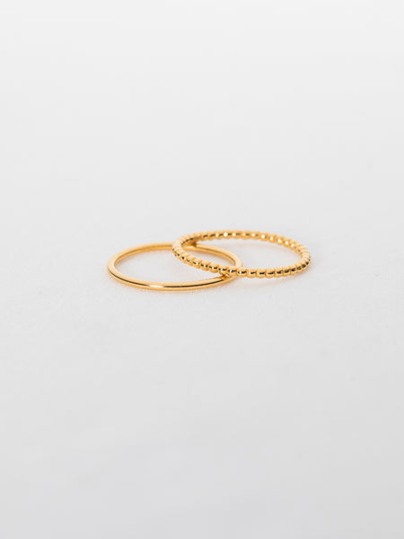 Basic Stack Ring Set in Gold