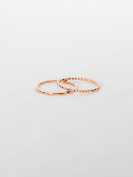 Basic Stack Ring Set in Rose Gold