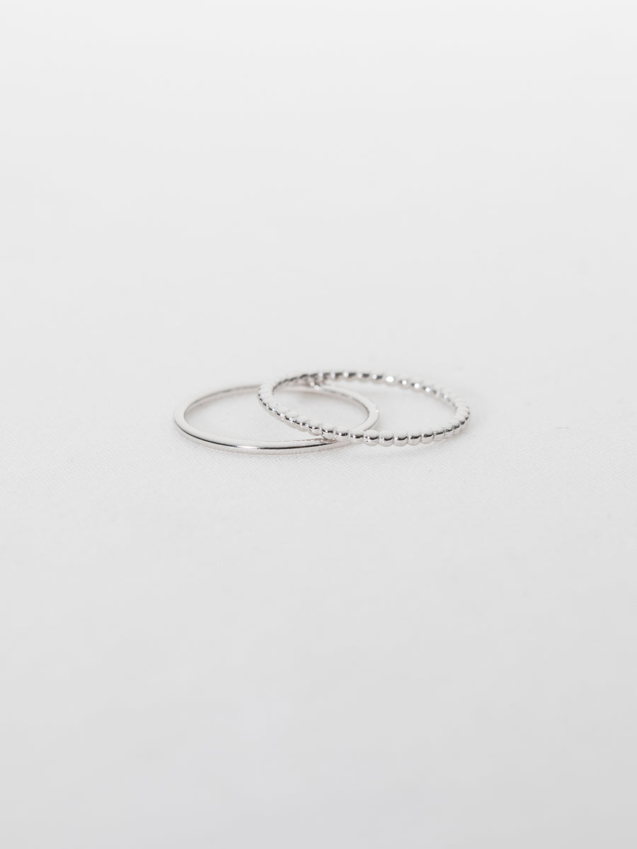Basic Stack Ring Set (Silver)