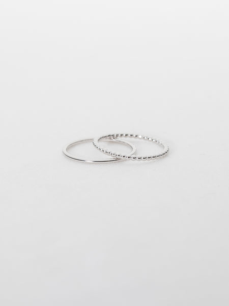 Basic Stack Ring Set in Silver