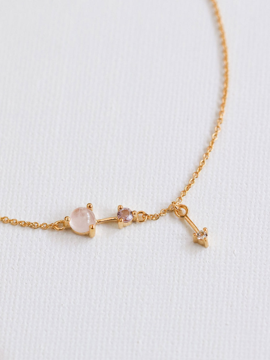 Joelle Bracelet - Rose Quartz (Gold)
