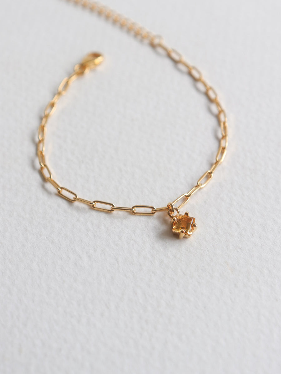 Kimberly Bracelet - Citrine (Gold)