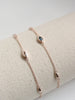 Louise Bracelet - White Topaz Marquise in Rose Gold