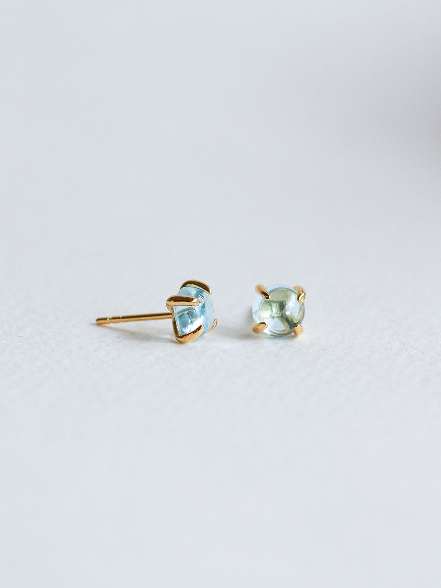 Basic Ear Studs - Blue Topaz (Gold)