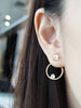 Beth Ear-Jacket Set - Moonstone in Silver