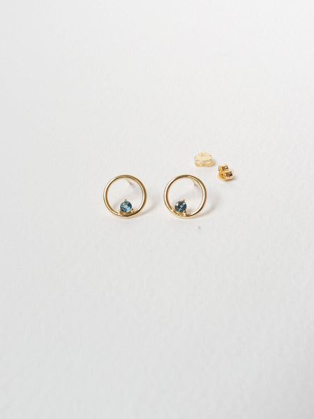 Bri Earstuds - London Blue Topaz in Gold - Online Exclusive