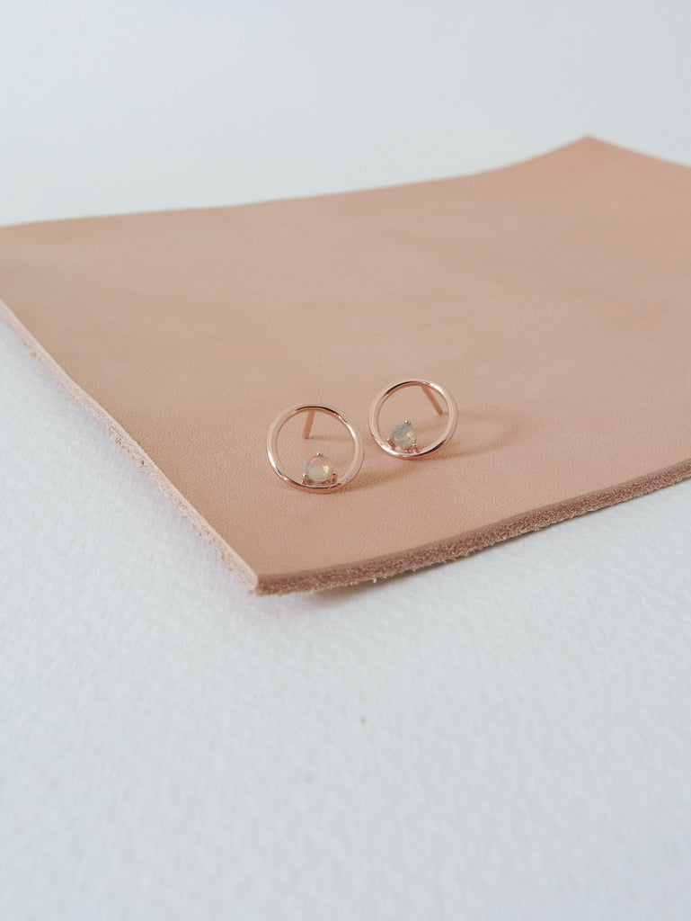 Bri Earstuds - Opal in Rose Gold (lIMITED EDITION)