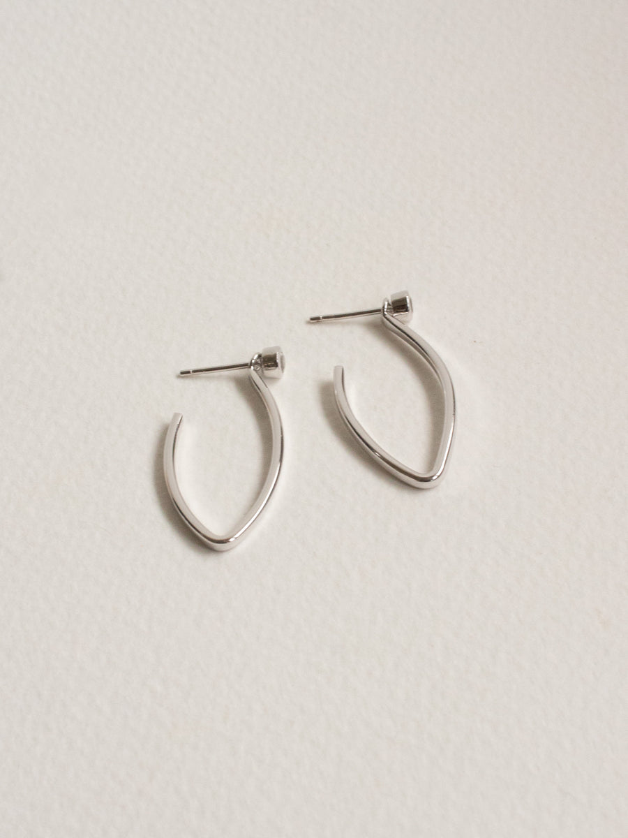 Edit Convertible Hoops - White Topaz (Silver)