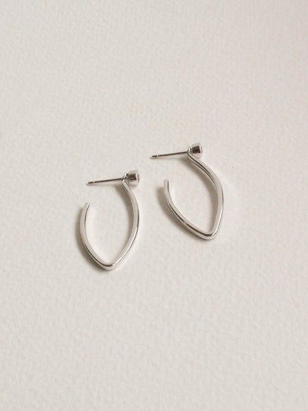 Edit Convertible Hoops with White Topaz in Silver