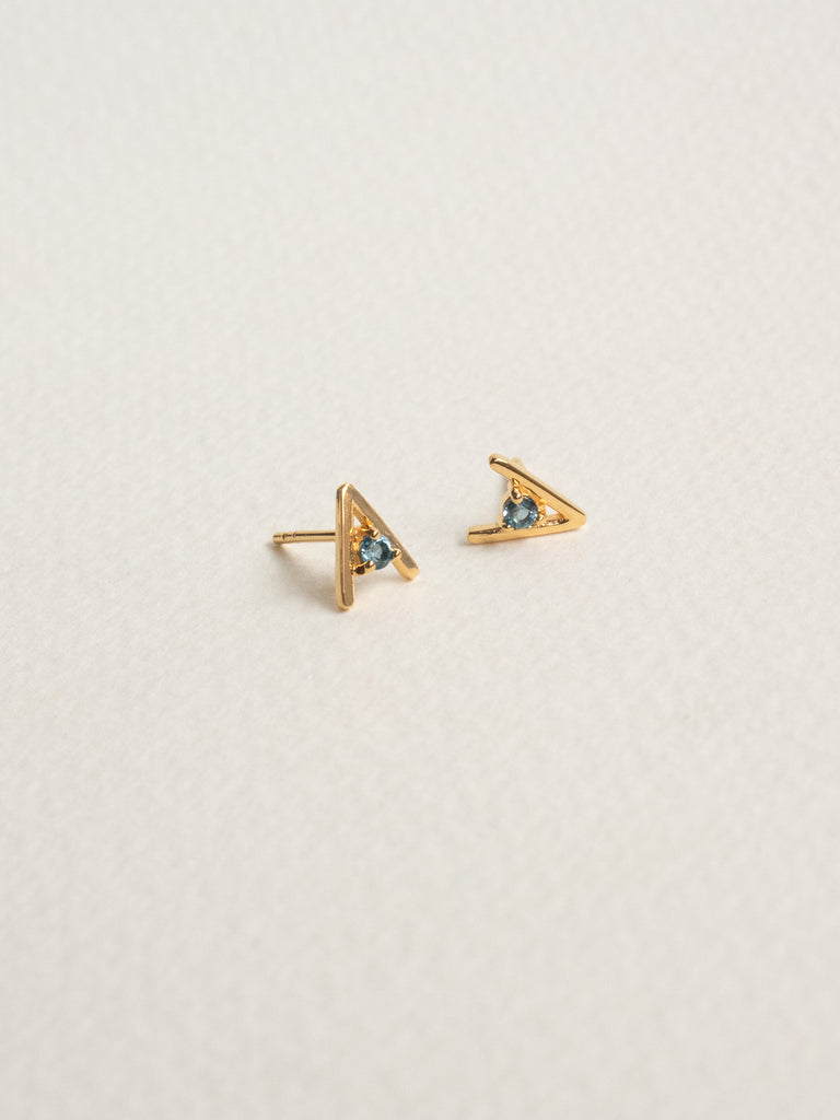 Gia Earstuds - London Blue Topaz in Gold