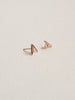 Gia Earstuds - White Topaz in Rose Gold