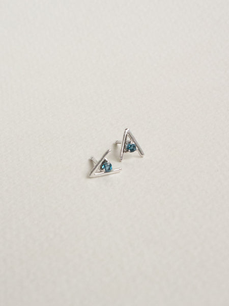 Gia Earstuds - London Blue Topaz in Silver