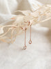 Hayly Earrings - White Topaz Drop in Rose Gold