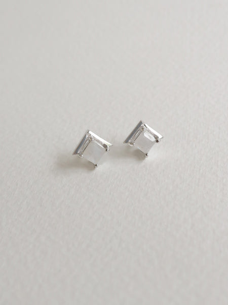 Jeri 2Way Earrings - Moonstone on Silver