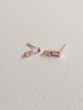 Juliette Ear Studs - Pink Amethyst in Rose Gold
