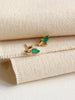 Laura Earstuds - Green Onyx Marquise in Gold