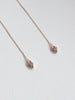 Luella Ear Threader - White Topaz in Rose Gold