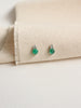 Luisa Earstuds - Green Onyx and Green Amethyst in Silver