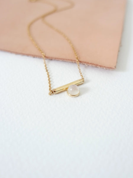 Bar - Moonstone in Gold
