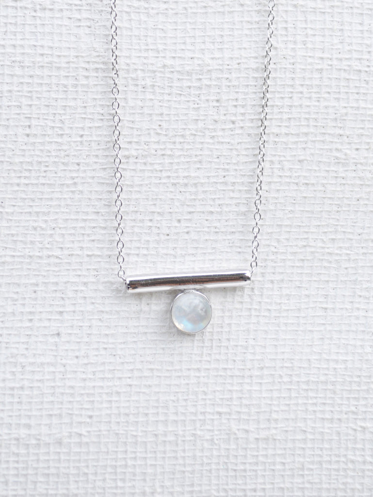 Bar - Moonstone in Silver