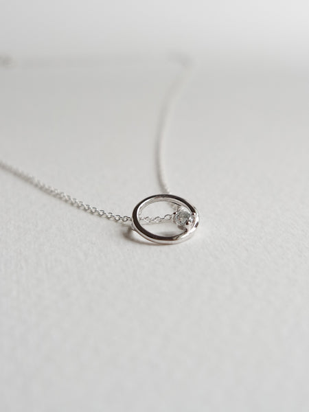 Bri Necklace - Aquamarine in Silver