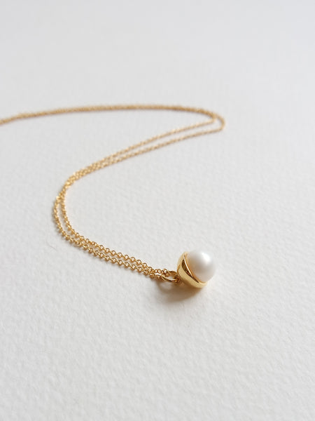 Diane - Freshwater Pearl in Gold