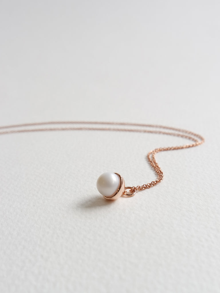 Diane - Freshwater Pearl in Rose Gold
