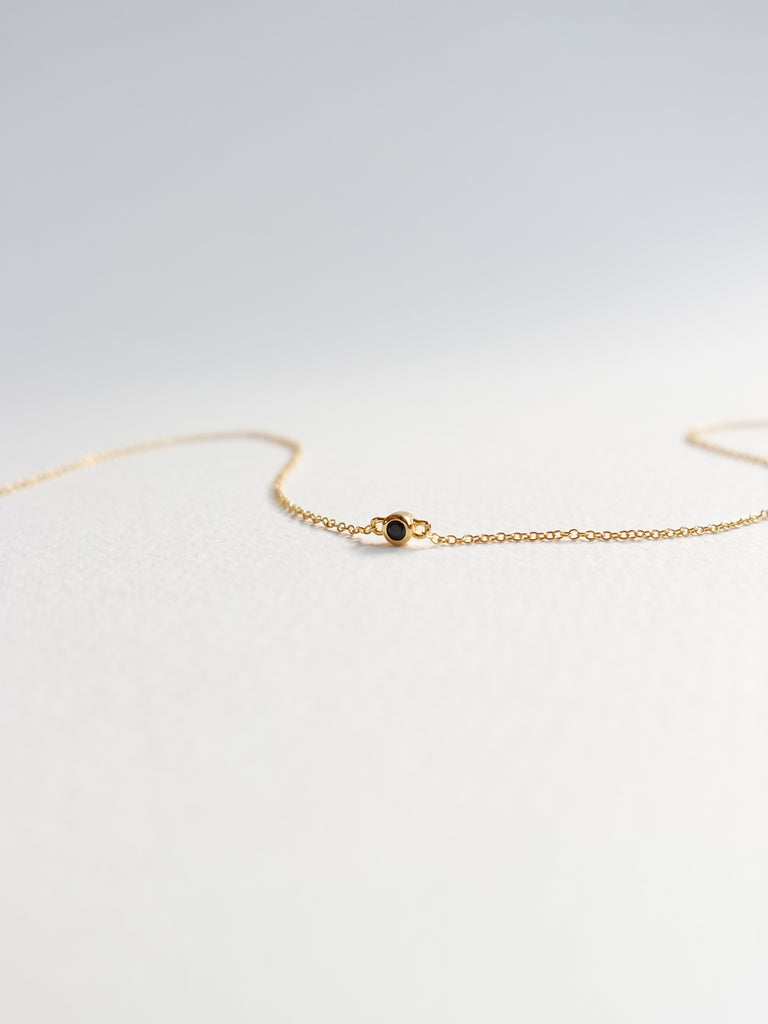 Emma - Black Spinel in Gold