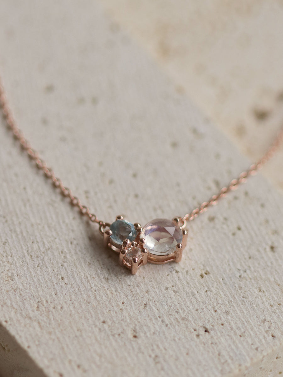Jayne Necklace - Moonstone (Rose Gold)