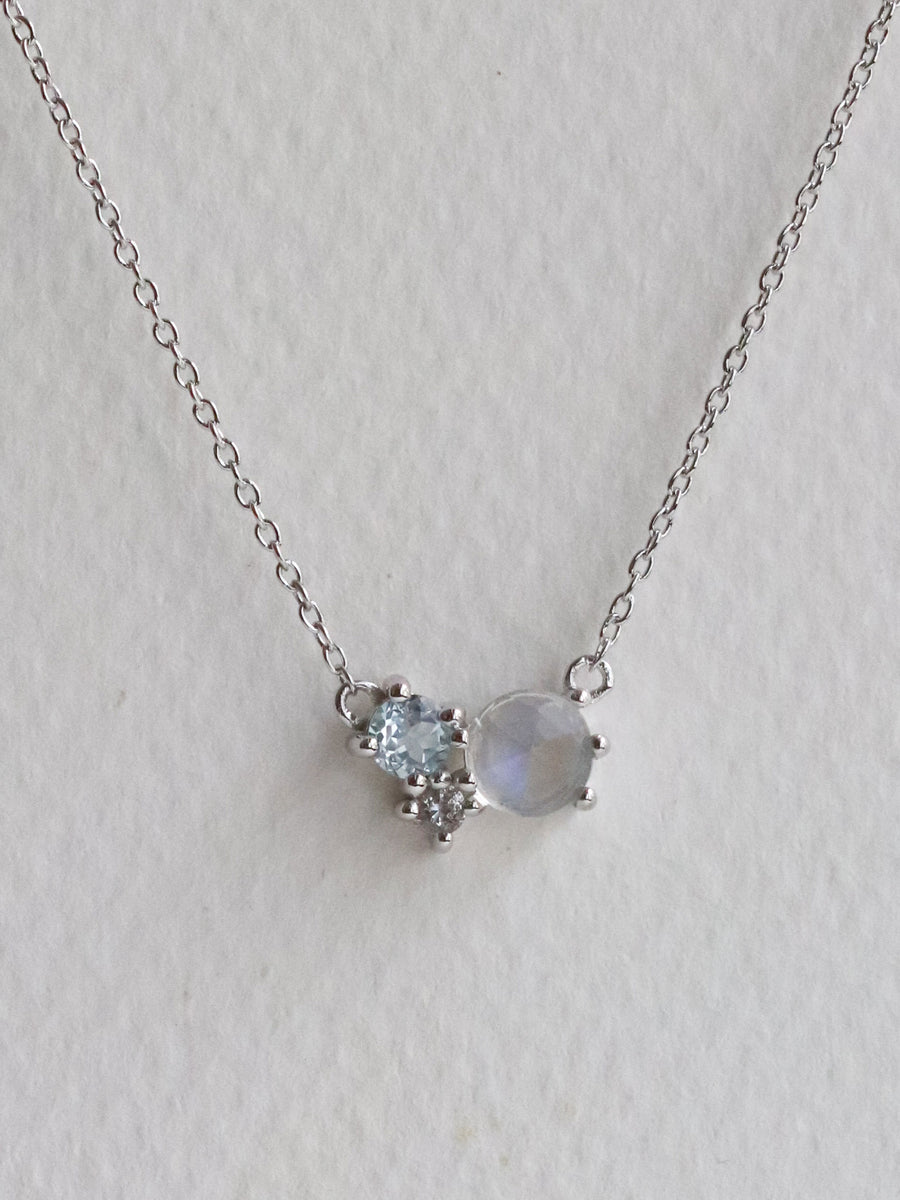 Jayne Necklace - Moonstone (Silver)