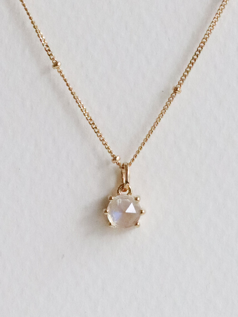 Josie Necklace - Moonstone (Gold)