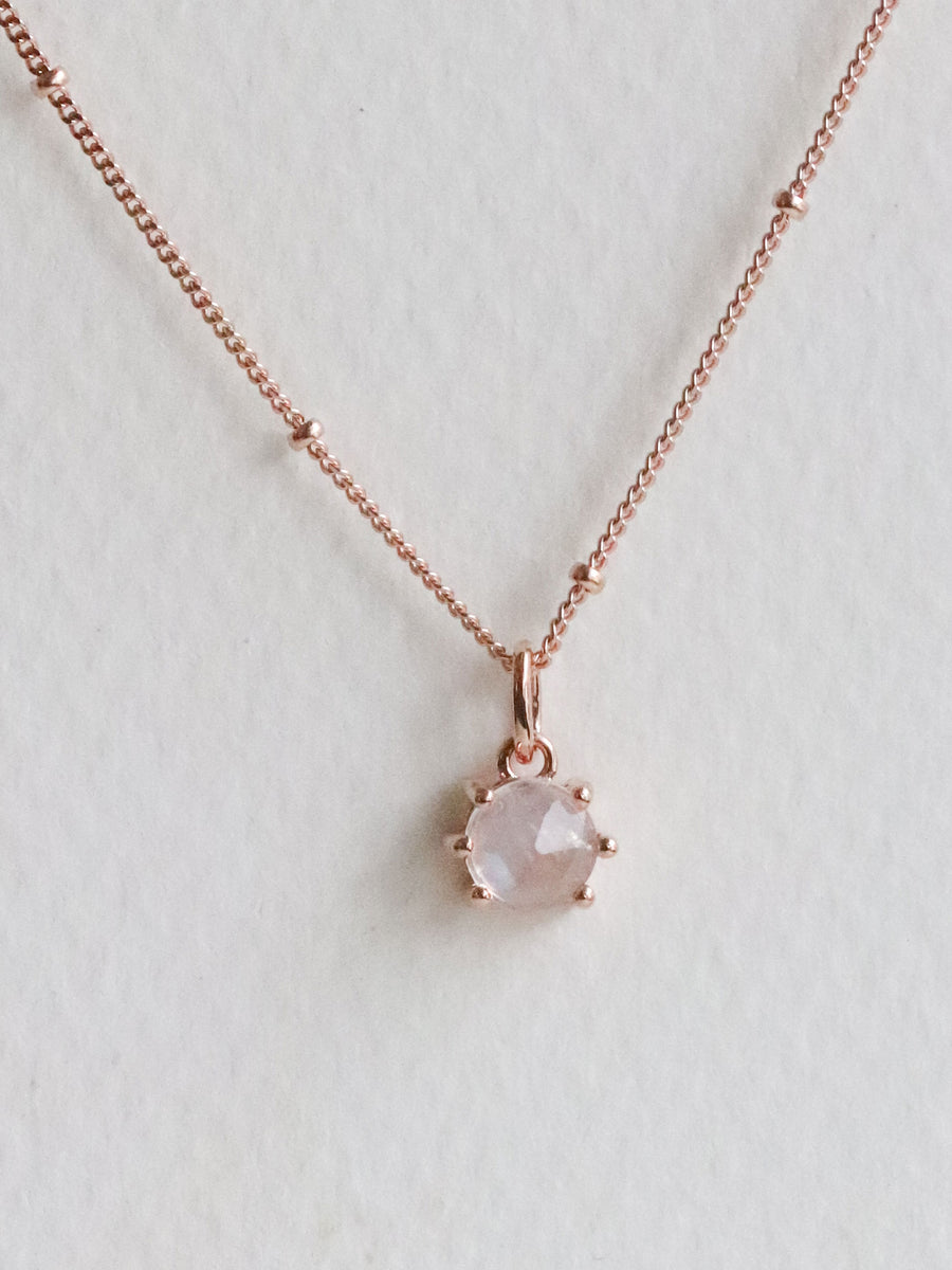 Josie Necklace - Moonstone (Rose Gold)