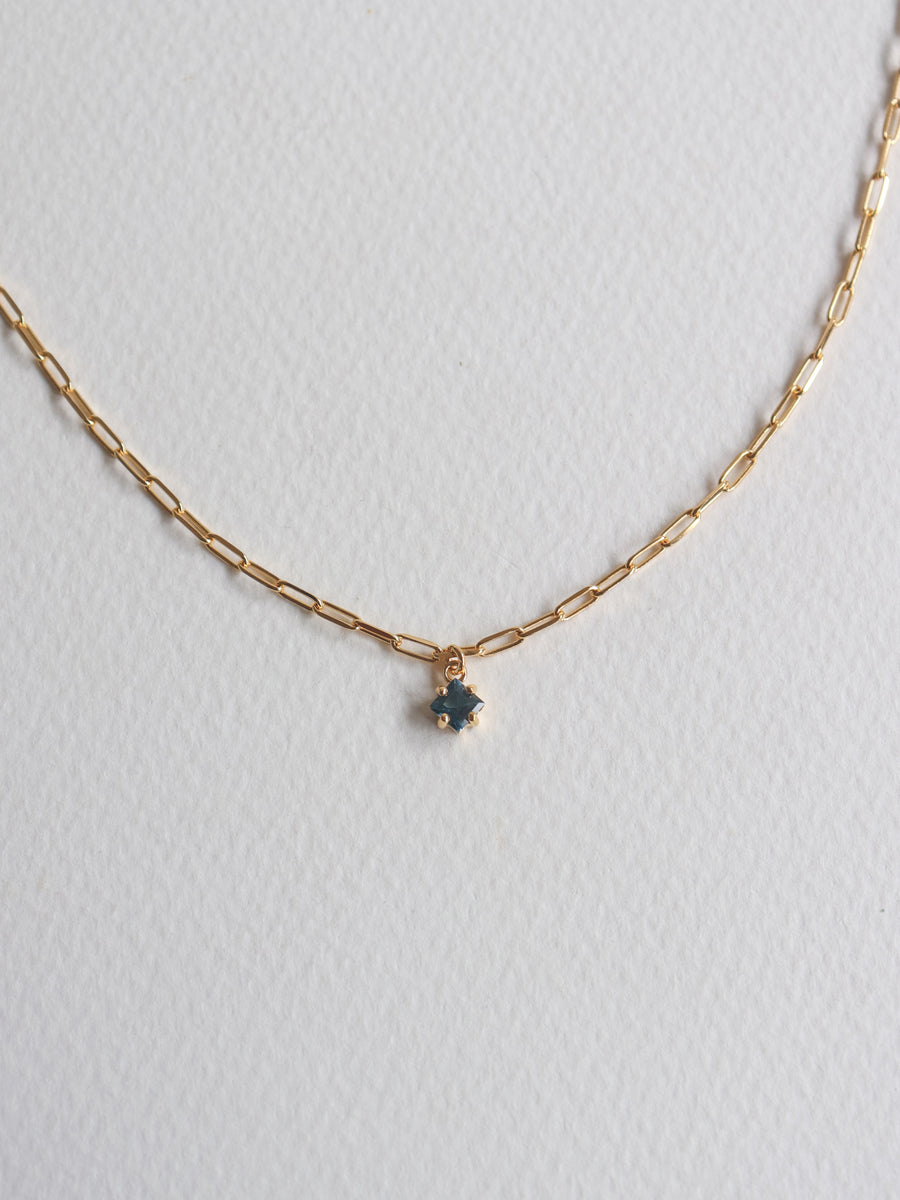 Kimberly Necklace - London Blue Topaz (Gold)