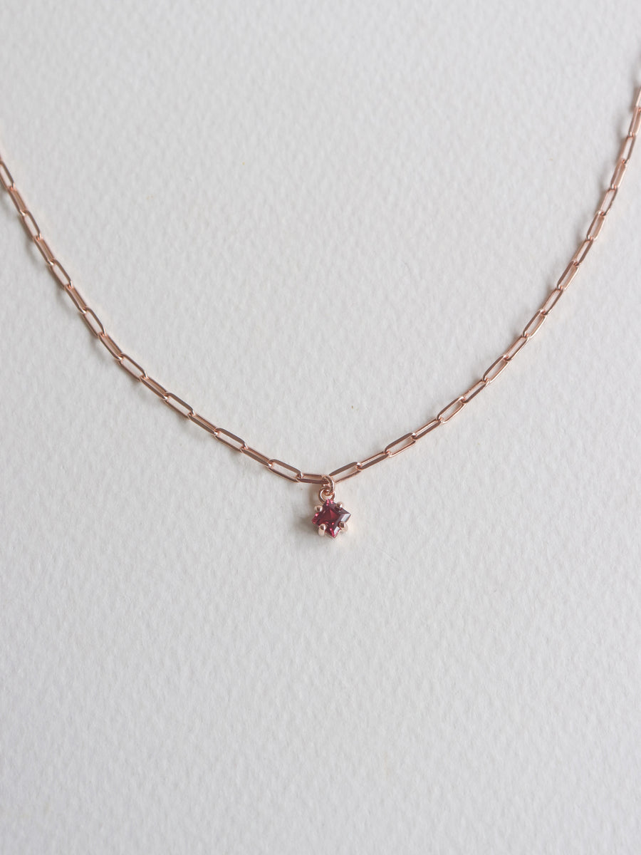 Kimberly Necklace - Rhodolite (Rose Gold)