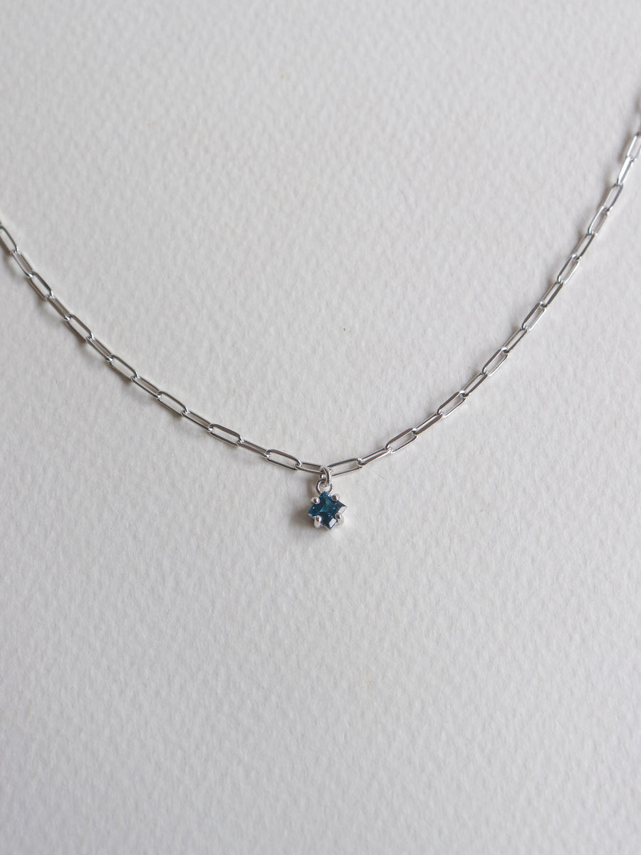 Kimberly Necklace - London Blue Topaz (Silver)