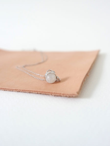 Last Piece - The Orb - Moonstone in Silver