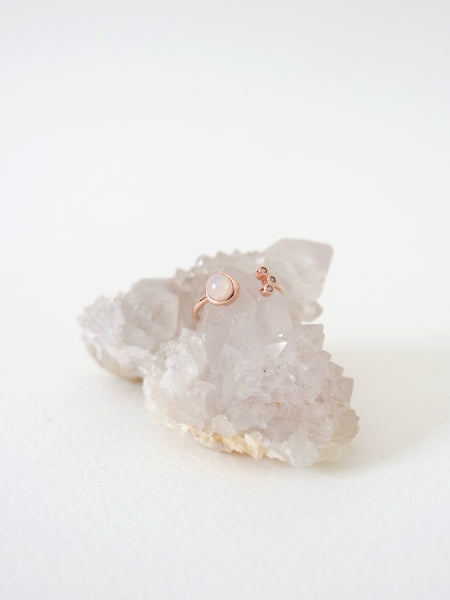 Alix - Opal in Rose Gold