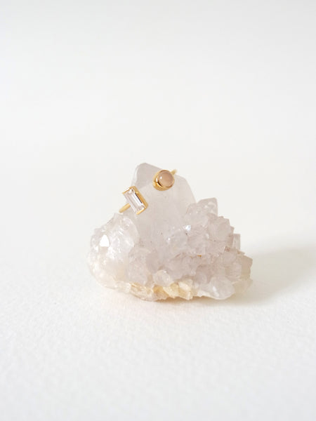Ashley - Pink Chalcedony in Gold