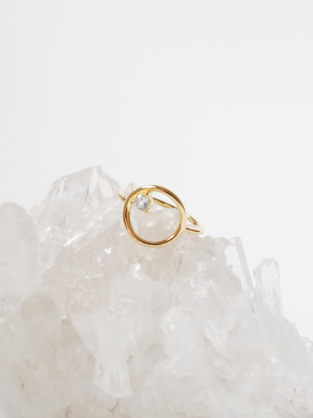 Bri Ring - Aquamarine on Gold