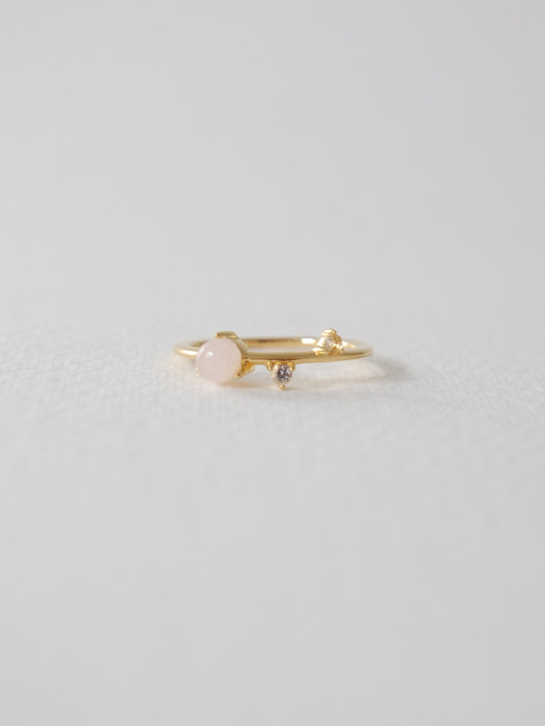 Brooke - Rose Quartz In Gold / Silver