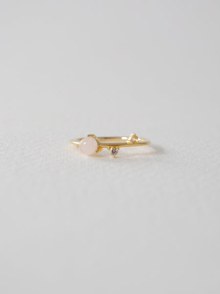 Brooke - Rose Quartz In Gold